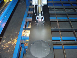 cutting 0,8 mm thick sheet metal