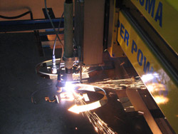 cutting 8 mm thick sheet metal